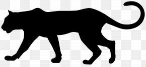 Puma Silhouette Clip Art Image - Cougar Black Panther Leopard Clip Art PNG