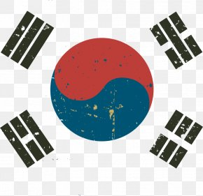 Vector South Korea Flag - Flag Of South Korea North Korea Korean War PNG