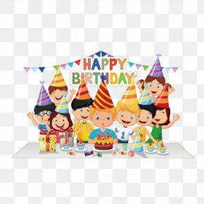 Birthday Party - Birthday Cake Party Cartoon PNG
