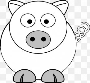 Pig Vector - Coloring Book Child Drawing Page PNG