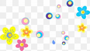 Hand-painted Colorful Flowers - Euclidean Vector Download PNG