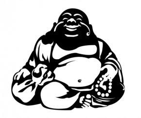 Buddha Silhouette - Standing Buddha T-shirt Budai Buddhism Clip Art PNG