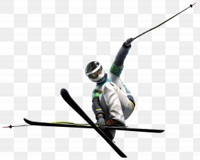 Slalom Skiing Sports - Winter Background PNG