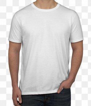 White T-shirt - Long-sleeved T-shirt Gildan Activewear Clothing PNG