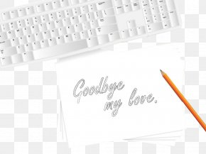Illustrations Handwritten Goodbye - Paper Illustration PNG