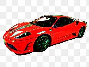 Red Sports Car - Aston Martin Ferrari F430 Sports Car PNG