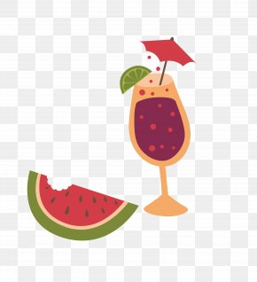 Delicious Watermelon And Summer Drinks - Alcoholic Drink PNG