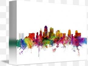 Kansas City Skyline - Kansas City Canvas Print Mural Skyline PNG