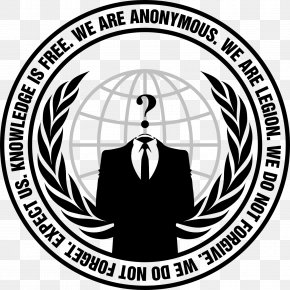 Anonymous - T-shirt Anonymous Hoodie Logo Million Mask March PNG