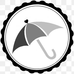 Umbrella Clipart Black And White - Black And White Clip Art PNG