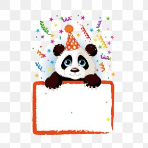 Copywriter Background Elements,panda,animal,Cartoon - Giant Panda Birthday Stock Photography Clip Art PNG