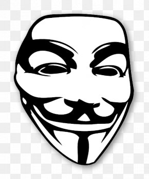 Mask - Guy Fawkes Mask Anonymous Text Clip Art PNG