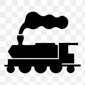 Train Silhouette - Rail Transport Train Passenger Car Railroad Car Clip Art PNG