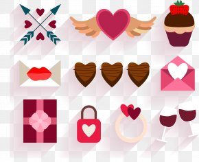 Vector Decorative Pattern Collection Valentine's Day Weddings - Valentine's Day Dinner PNG