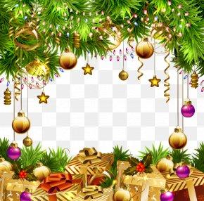 Beautiful Christmas Ornaments Background - Christmas Tree Paper Christmas Ornament PNG