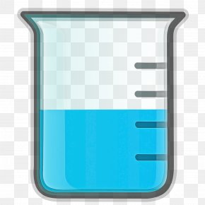 Laboratory Equipment Rectangle - Beaker Aqua Turquoise Font Rectangle PNG