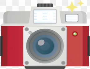 Red Digital Camera - Digital Camera Digital Data Icon PNG