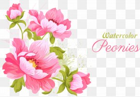 Pink Flowers Vector Material - Pink Flowers Wedding Invitation Watercolor Painting PNG