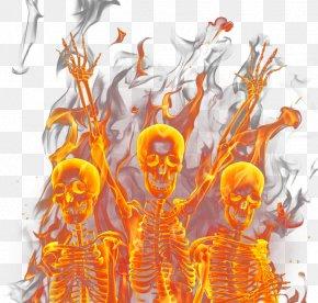 Skull Flame - U9ab7u9ac5 Flame Light PNG