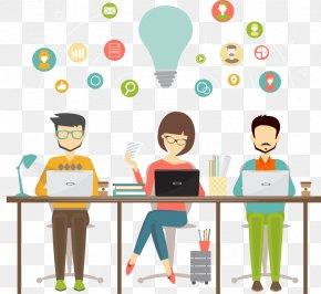 Ppt Element - Freelancer Business Teamwork Coworking Organization PNG