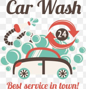 Car Wash Poster PNG