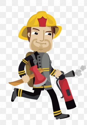 Hand-painted Firefighters - Fireman Sam Firefighter Cartoon PNG