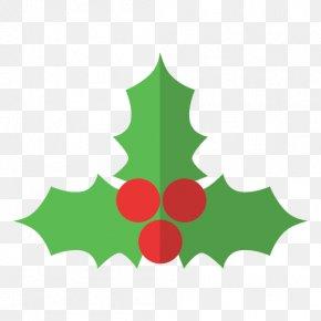 Christmas - Holly Mistletoe Christmas Clip Art PNG