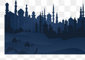 Vector Dark Blue Winter Cold - One Thousand And One Nights Illustration PNG