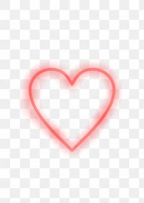 Flower Neon - Dares Light Heart PicsArt Photo Studio Sticker PNG