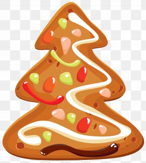Christmas Tree Cookie Clipart Image - Christmas Cookie Icing Clip Art PNG