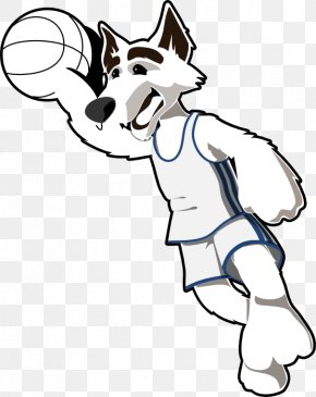 Black And White Basketball Clipart - Gray Wolf Basketball Backboard Black And White Clip Art PNG