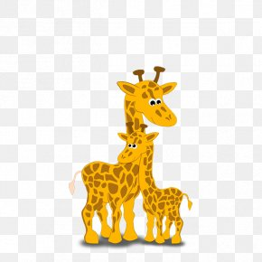 Giraffe Animal Print - Mothers Day Poster Cartoon PNG