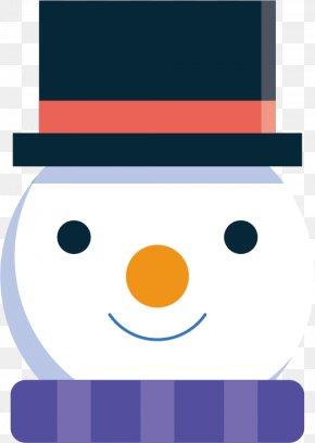 Vector Christmas Snowman Sticker Avatar - Christmas Avatar Snowman Clip Art PNG