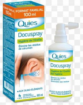 Cerumen Blockage 30ml Aerosol Spray EarwaxGentle And Quiet - Quies Docuspray Ear Hygiene Spray 100ml Doculyse PNG