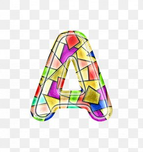 A Letter Stained Glass - Stained Glass PNG