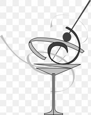 Cocktail Black And White - Black And White Cocktail Glass Martini Clip Art PNG