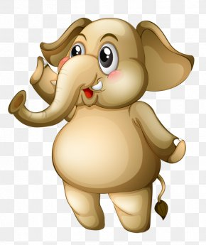 Cartoon Baby Elephant - Elephant Flashcard Illustration PNG
