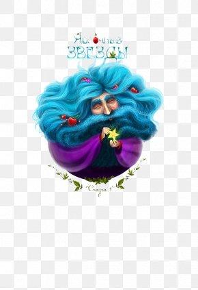 3d Blue Hair Old Man Illustration - Illustrator Graphic Design Behance Illustration PNG