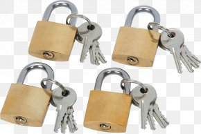 Padlock Image - Brass Padlock Key Combination Lock PNG