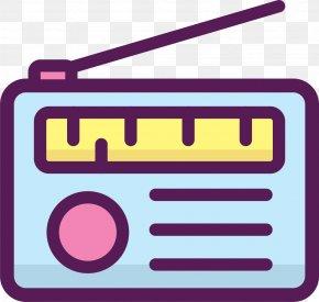 Hand Drawn FM Radio - FM Broadcasting Radio Station Download PNG
