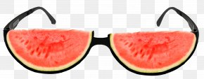 Summer, Do Not Pick Watermelon Decorative Glasses Material - Watermelon Glasses Summer PNG