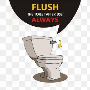 Hand Flush Toilet Slogan - Flush Toilet Public Toilet Plumbing Fixture Bathroom PNG