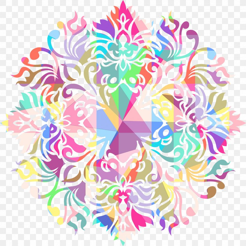 Pink Background, PNG, 2041x2041px, Floral Design, Kaleidoscope, Pink M, Sticker, Symmetry Download Free