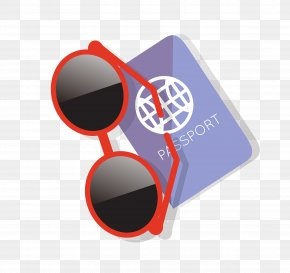 Vector Sunglasses Passport Material - Goggles Sunglasses Passport PNG