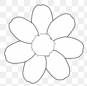 Flower Tattoos Black And White - Line Art Drawing Black And White Clip Art PNG
