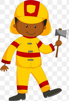 Fireman With A Fire Axe - Firefighter Clip Art PNG