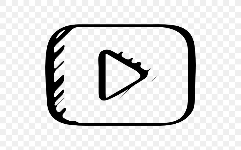 Youtube Logo Sketch Png 512x512px Youtube Area Black