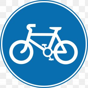 Vector Bicycle Lane - Bike Path Bicycle Traffic Sign Road Cycling PNG