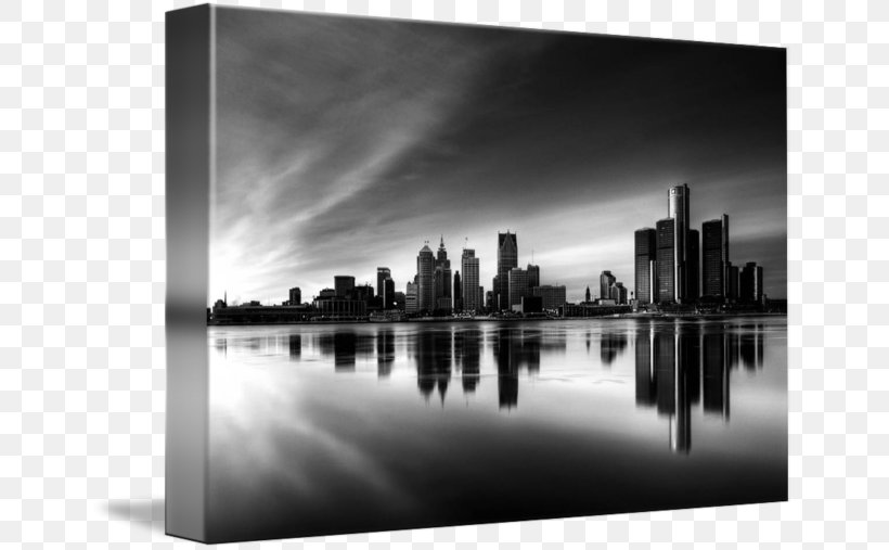 Detroit Black And White Wallpaper Png 650x507px Detroit Black And White Canvas City Cityscape Download Free