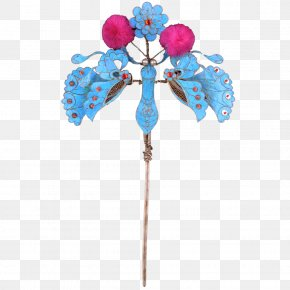 Kingfisher Clear Silver Butterfly Hairpin Head Curette - Hairpin Butterfly Silver Hair Stick PNG